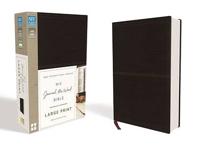 Picture of NIV, Journal the Word Bible, Large Print, Imitation Leather, Black