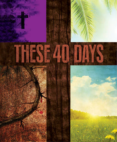 These 40 Days Images Lent Bulletin, Large (Pkg of 50)