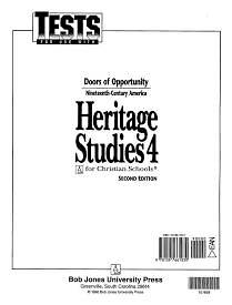 Heritage Studies 4 Tests 2nd Edition