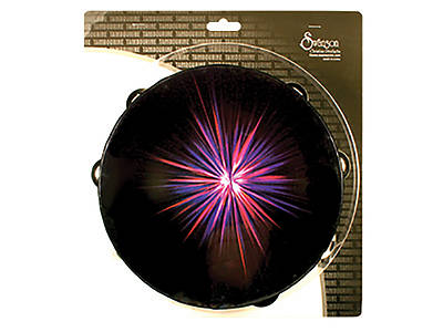 Purple Starburst Single Row Tambourine - 10