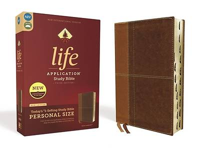 Niv, Life Application Study Bible, Third Edition, Personal Size, Leathersoft, Brown, Indexed, Red Letter Edition