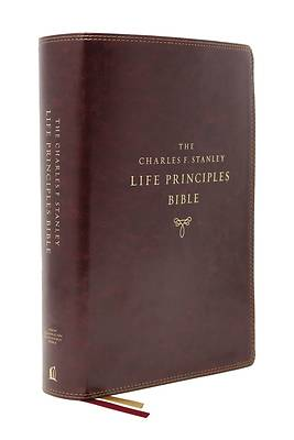 Picture of Nasb, Charles F. Stanley Life Principles Bible, 2nd Edition, Leathersoft, Burgundy, Thumb Indexed, Comfort Print