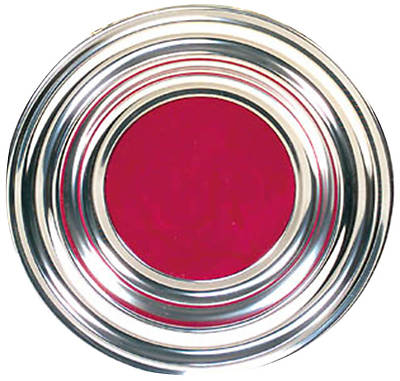 Silver-tone Offering Plate with Red Mat