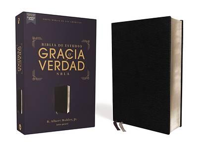 Picture of Nbla Biblia de Estudio Gracia Y Verdad, Piel Fabricada, Negro, Interior a DOS Colores