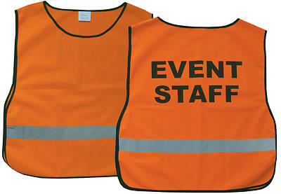 Event Staff Orange Safety Vest