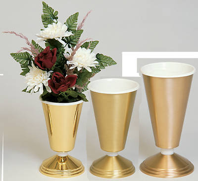 Picture of Koleys K474C Satin Brass Vase with Aluminum Liner