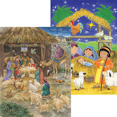 Picture of Adoration and Newborn King Advent Calendar with Envelope (Package of 6)