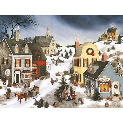 Lang Boxed Christmas Cards 2020 Caroling in the Village Boxed Christmas Cards by LANG | Cokesbury