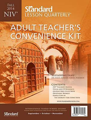 Standard Lesson Quarterly NIV Adult Teacher Convenience Kit Fall 2014