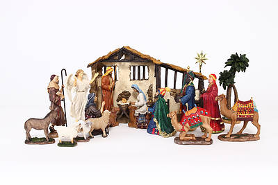 Real Life Nativity Deluxe 16PC