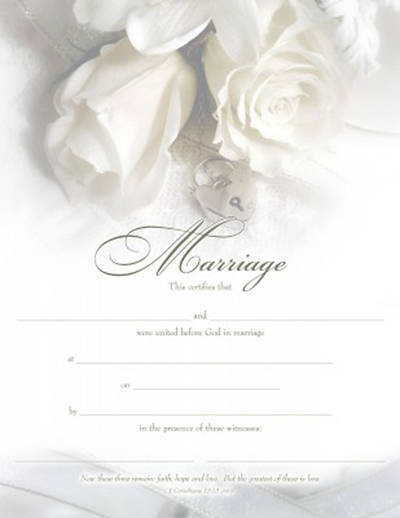 Picture of Certificate of Marriage Package of 6