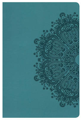 Picture of NKJV Large Print Personal Size Reference Bible, Teal Leathertouch