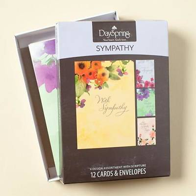 Watercolors - Sympathy Boxed Cards - Box of 12