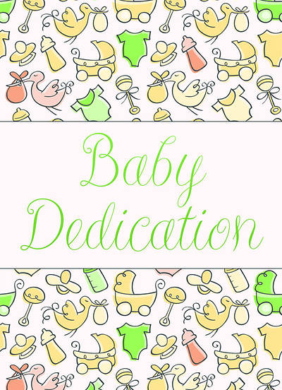 Baby Dedication Certificate with Envelope (Package of 6)
