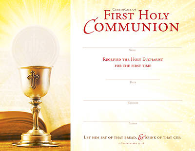 Eat Bread First Holy Communion Certificate