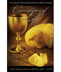 Communion John 6:35 Bulletin Regular (Package of 100)