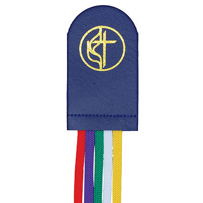 Picture of UM Cross & Flame 5 Ribbon Bookmark