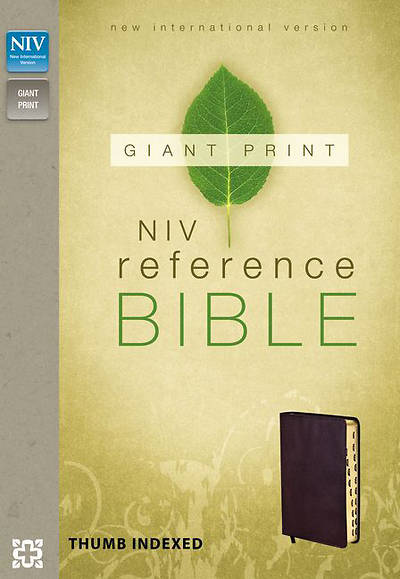 New International Version Reference Bible, Giant Print