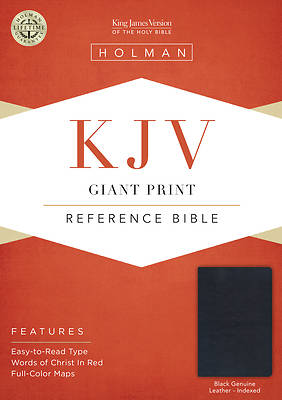 Picture of KJV Giant Print Reference Bible, Black Genuine Leather Indexed