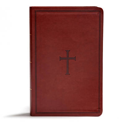 Picture of KJV Giant Print Reference Bible, Brown Leathertouch, Indexed