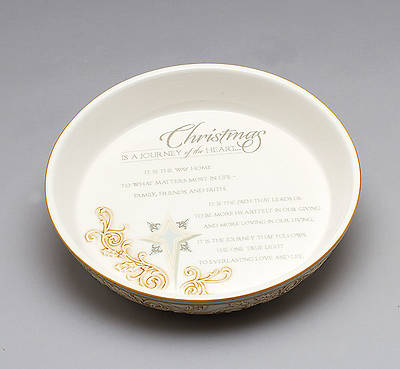 """Christmas is a Journey"" Pie Plate"