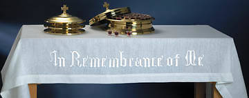 Pure Linen In Remembrance of Me Communion Table Cover - 50