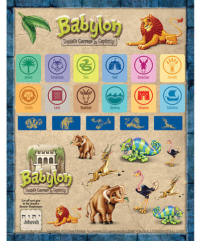 Vacation Bible School (VBS) 2018 Babylon Sticker Sheets - Pkg of 10 Sheets