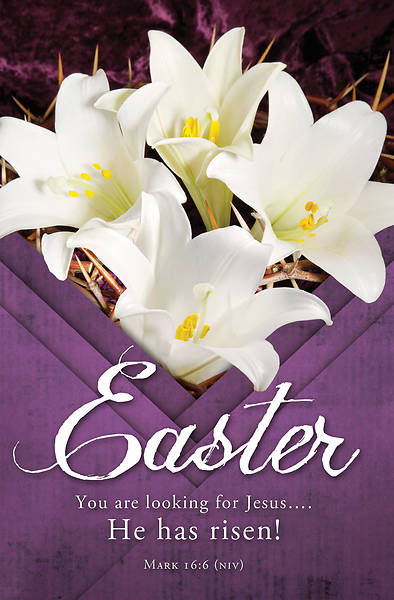 Picture of He Has Risen Easter Regular Size Bulletin