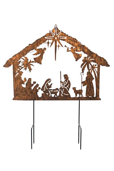 Picture of Solar Illuminated Nativity Stake