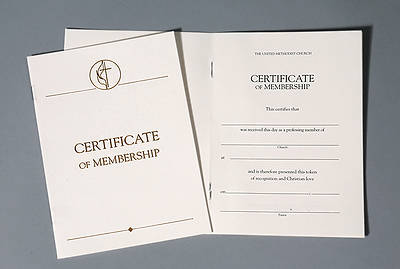 United Methodist Certificates of Membership Without Service (Pkg of 3)