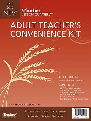 Standard Lesson Quarterly Adult NIV Teachers Kit Fall 2013