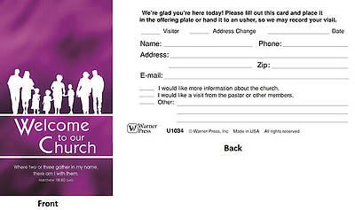 Welcome to Our Church Pew Cards - Package of 50
