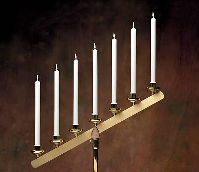 Picture of Stearic Altar Candles Emkay 8 7/8 x 7/8 Pack of 12 Plain End
