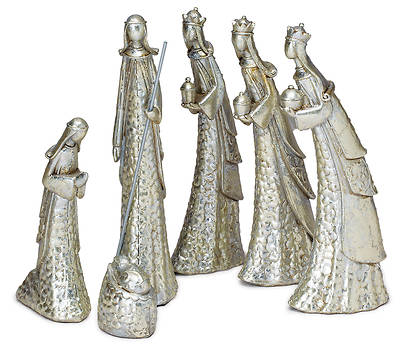 Picture of Hammered Silver Nativty - Set of 6