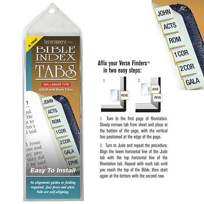 Picture of Verse Finders Thin Pack XL Print Gold Bible Tabs