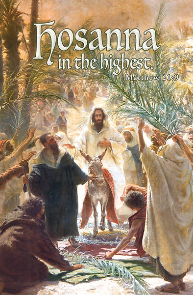 Hosanna Highest Palm Sunday Regular Size Bulletin