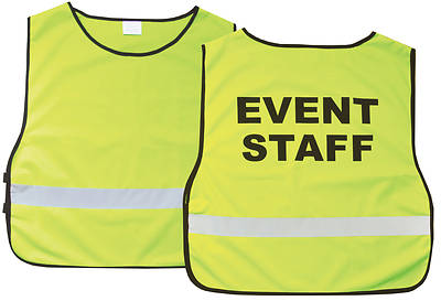 Event Staff Green Safety Vest