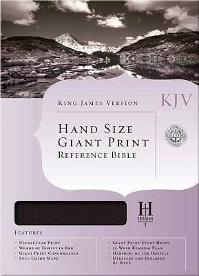 KJV Large Print Personal Size Reference Bible, Black Genuine Leather, Thumb-Indexed
