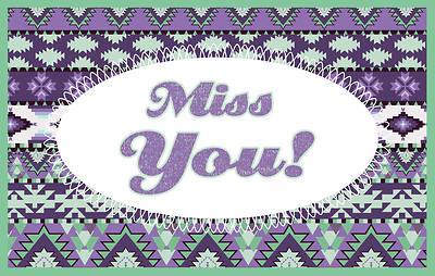 Miss You Splash Postcard