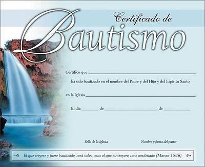 Picture of Certificado de Bautismo, 20-Pack