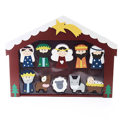 Picture of Children's Nativity Set with Stable (11 Piece)