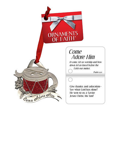 Come Adore Him Christmas Ornament