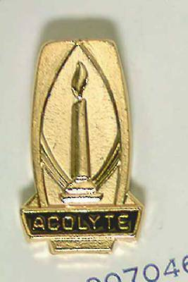 Picture of Gold Acolyte Pin with Lighted Candle