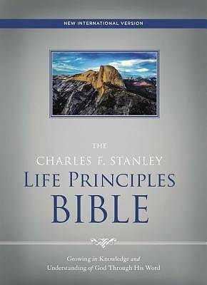 Picture of NIV, the Charles F. Stanley Life Principles Bible, Hardcover, Red Letter Edition