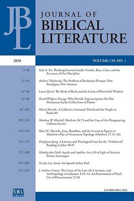 Picture of Journal of Biblical Literature 139.1 (2020)