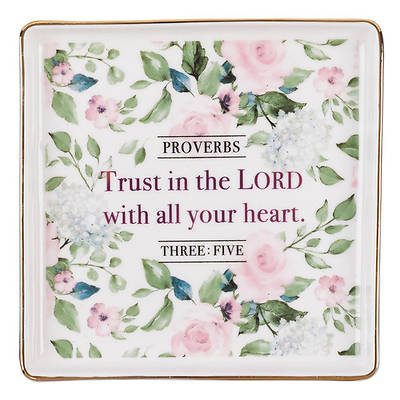 Picture of Trinket Trays Ceramic Trust in the Lord