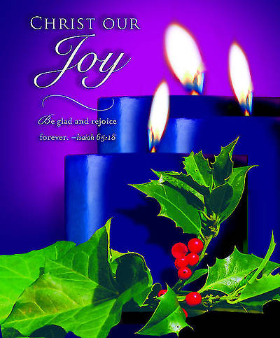Advent Blue Sunday 3 Bulletin 2012, Large Size (Package of 50)