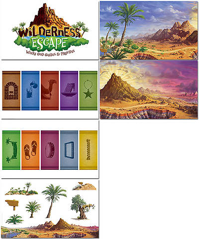 Group VBS 2014 Wilderness Escape Giant Decorating Posters Set of 6
