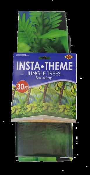 Vacation Bible School (VBS) 2018 Shipwrecked Jungle Trees Plastic Backdrop