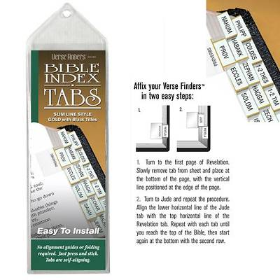 Verse Finder Bible Tabs - Slim Line Gold